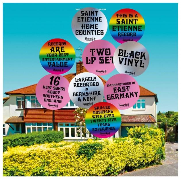 Обложката на новия албум на Сейнт Етиен Home Counties